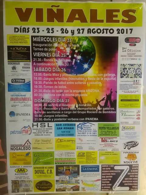 Grandes Fiestas en Viñales 2017. 23 al 27 de agosto 1