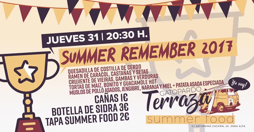 Hoy jueves, Summer Remember 2017 en Gatopardo Gastrobar 1