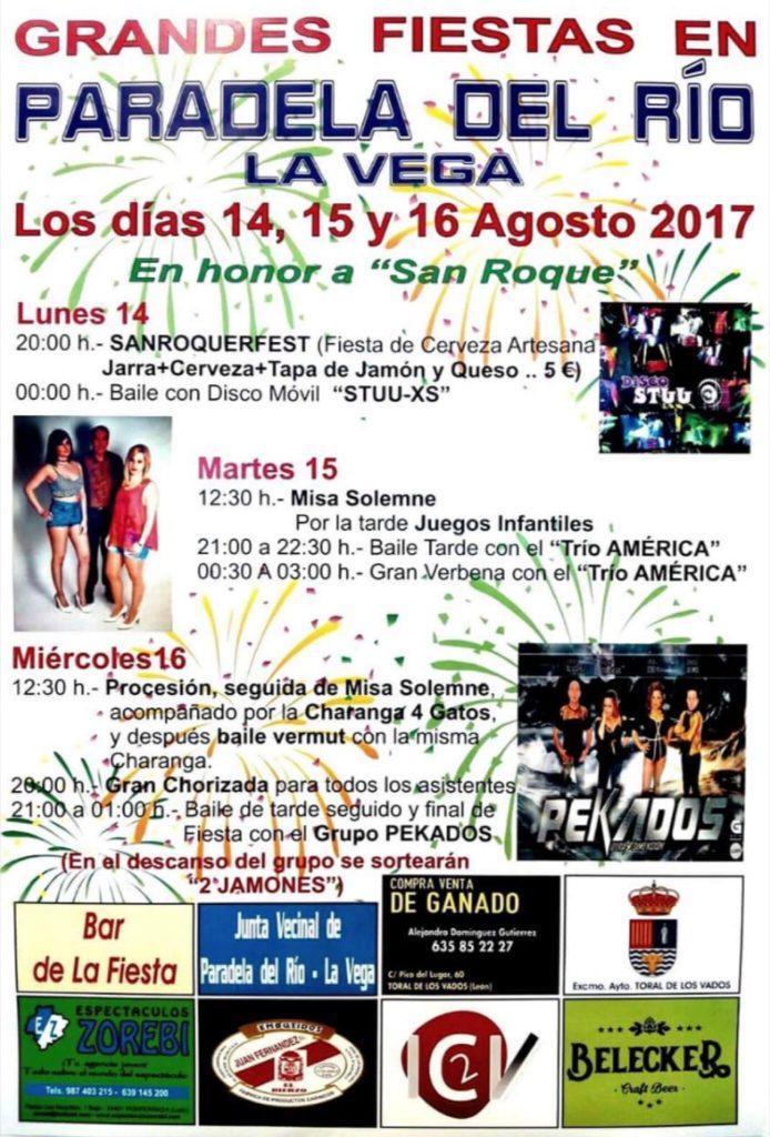 Fiestas en Paradela del Río. 14, 15 y 16 de agosto 2017 1
