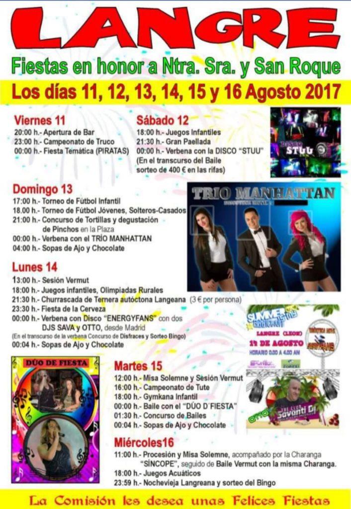 Fiestas en Langre. 11, 12, 13, 14, 15 y 16 de agosto 2017 3