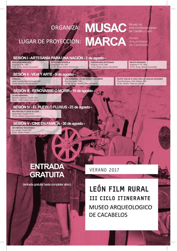 Sesión de cine rural en el Museo Marca de Cacabelos. Miércoles 2 de agosto 18:30h 1