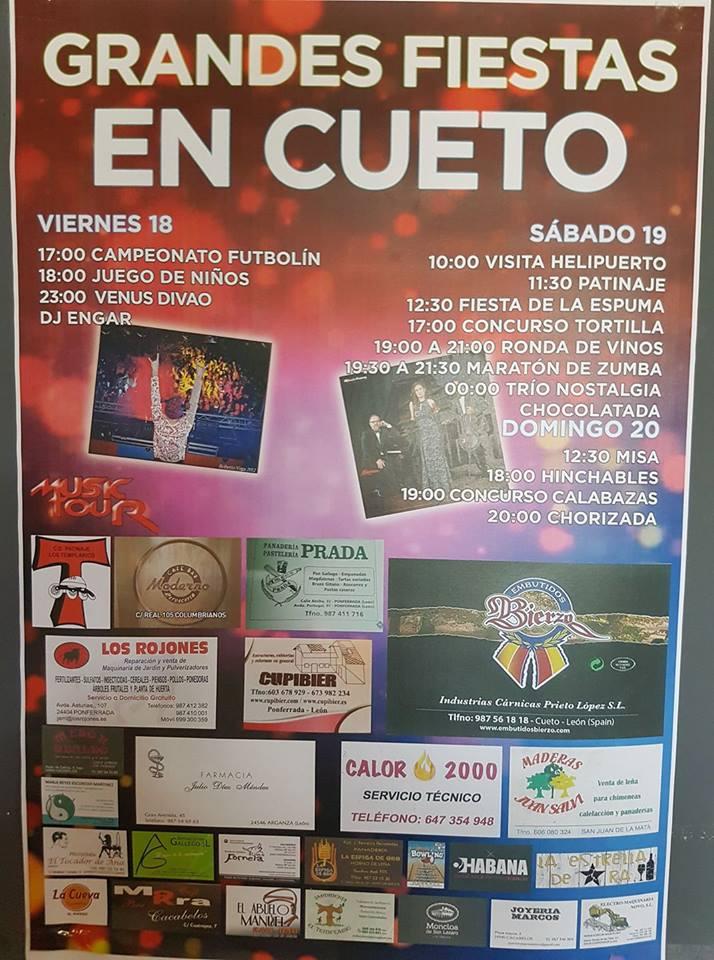 Grandes Fiestas en Cueto. 18 al 20 de agosto 2017 1