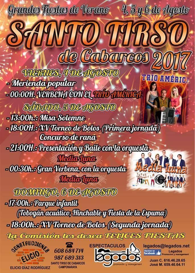 Fiestas de Verano en Santo Tirso de Cabarcos 2017 1