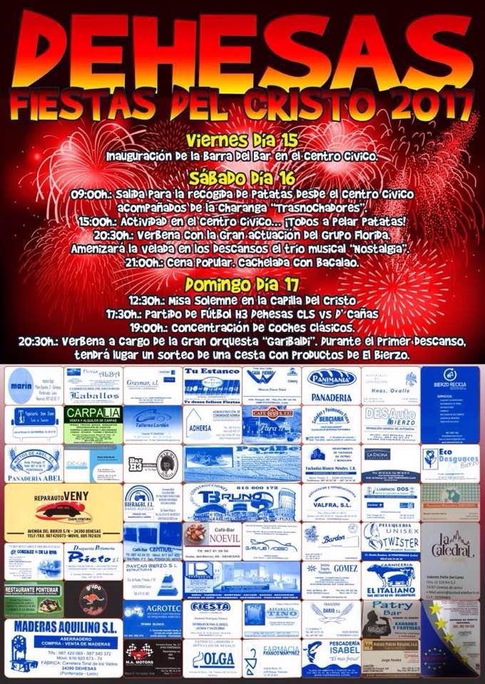 Fiestas del Cristo en Dehesas. 15 al 17 de septiembre de 2017 1