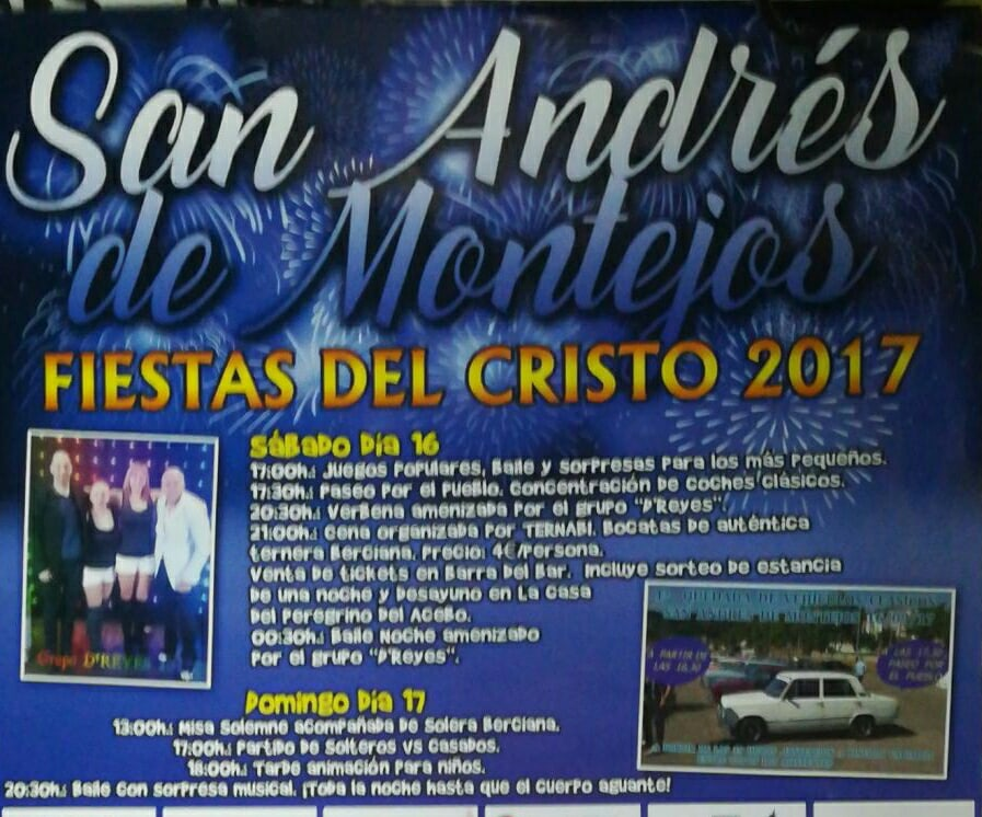 Fiestas en San Andrés de Montejos 2017 1