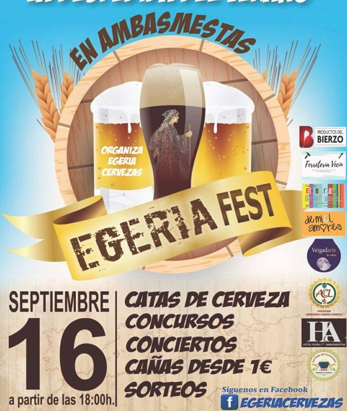 Despide el verano en el 1er 'Egeria Festival' en Ambasmestas. Sábado 16 de septiembre 1