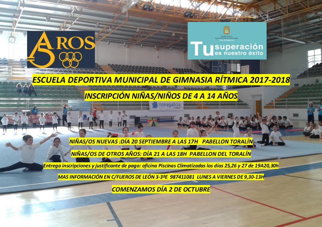 Escuela deportiva municipal de Gimnasia Rítmica 2017-2018 1