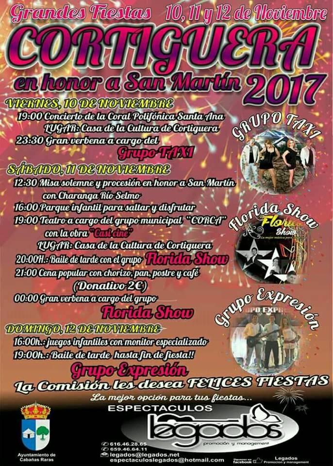 Llegan las fiestas en honor a San Martin 2017 en Cortiguera 1