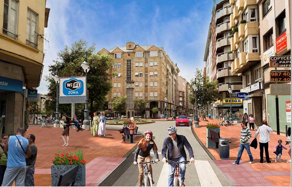 Así quedará el centro de Ponferrada tras el plan de comercio planeado por el Ayuntamiento 1