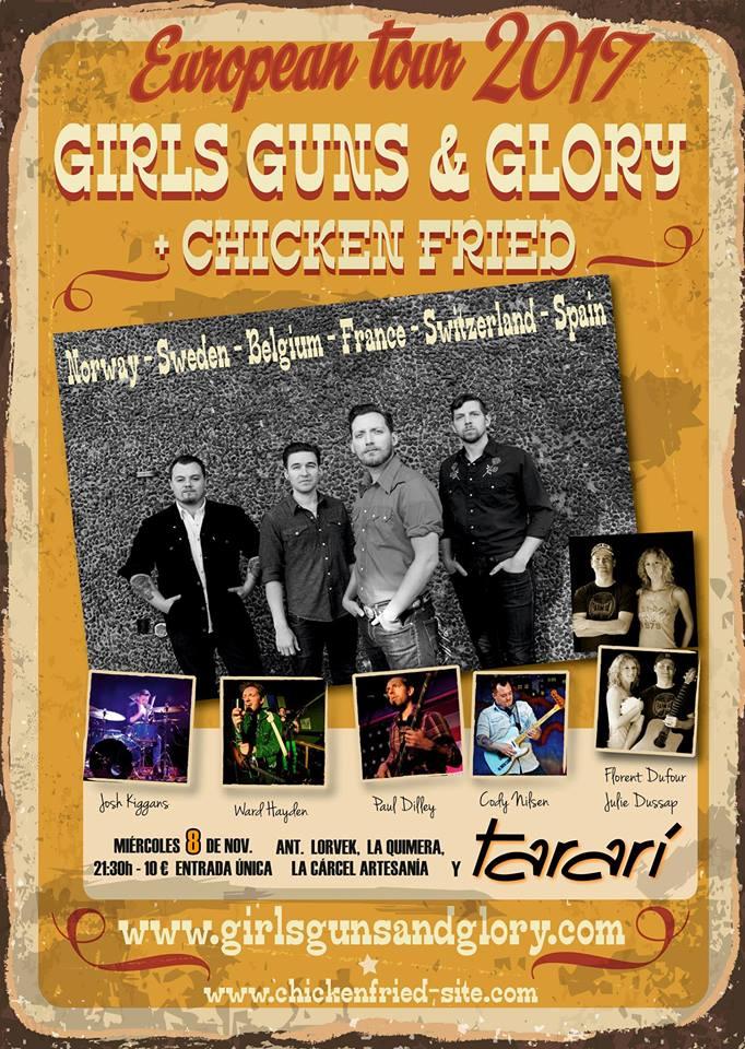 Girls Guns and Glory + Chicken Fried en Concierto Sala Tararí 1
