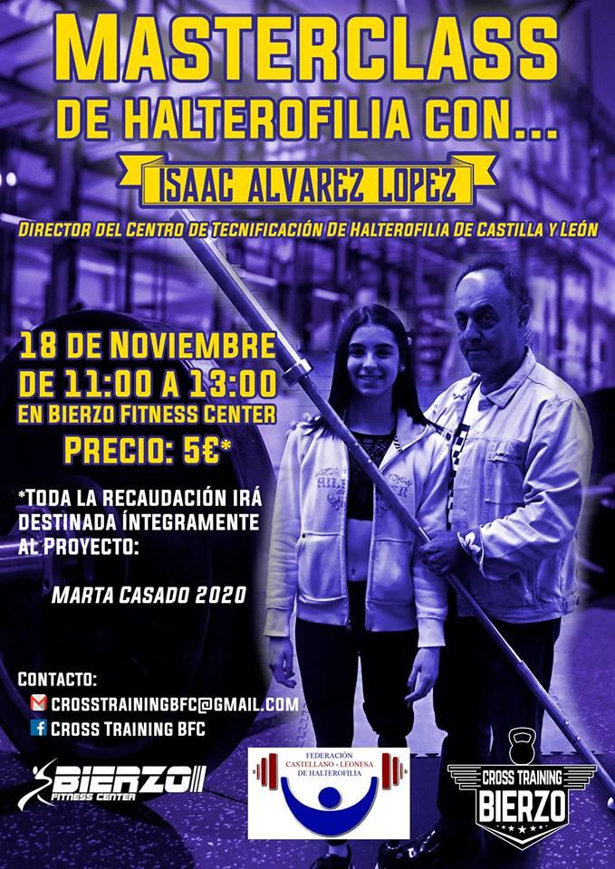 MasterClass de Halterofilia con Isaac Álvarez en Bierzo Fitness Mamba Gym 1