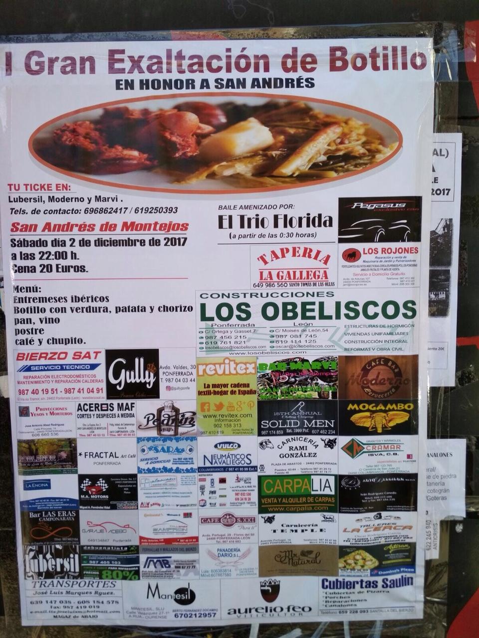 I Gran Exaltación del botillo en San Andrés de Montejos 1