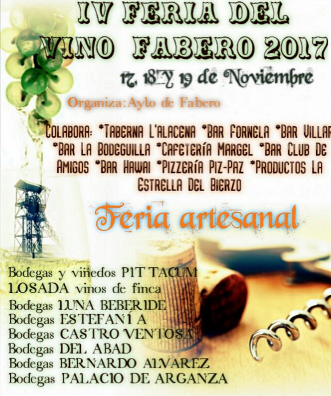 IV Feria del Vino y Mercado Artesano en Fabero 1