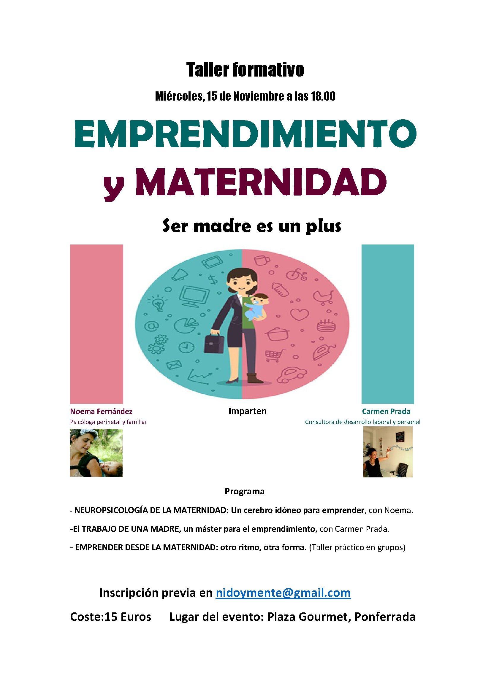 Evento emprendimiento y maternidad 1