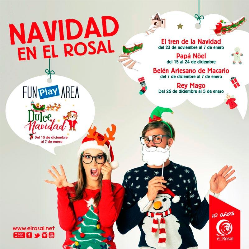 Actividades de navidad en el CC El Rosal 1