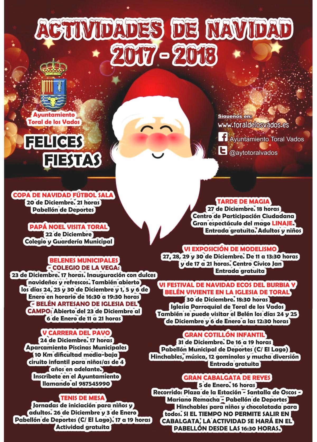 Actividades navidad 2017 en Toral de los Vados 1