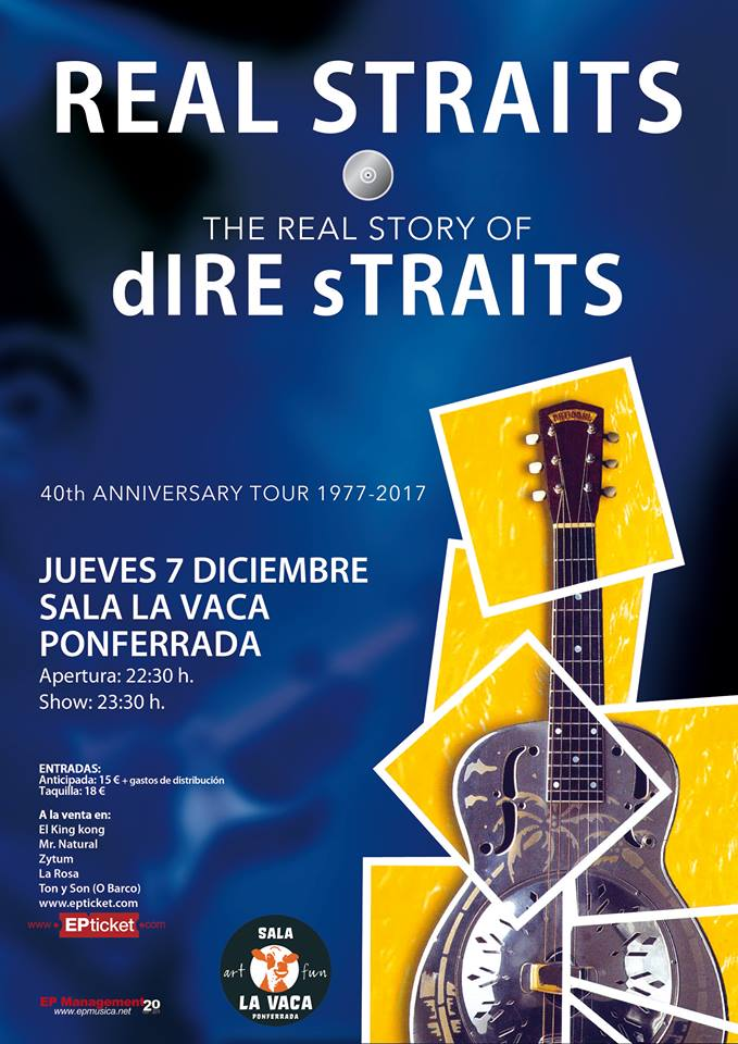 The Real Straits, desgranarán los grandes éxitos de Dire Straits en La Vaca 1