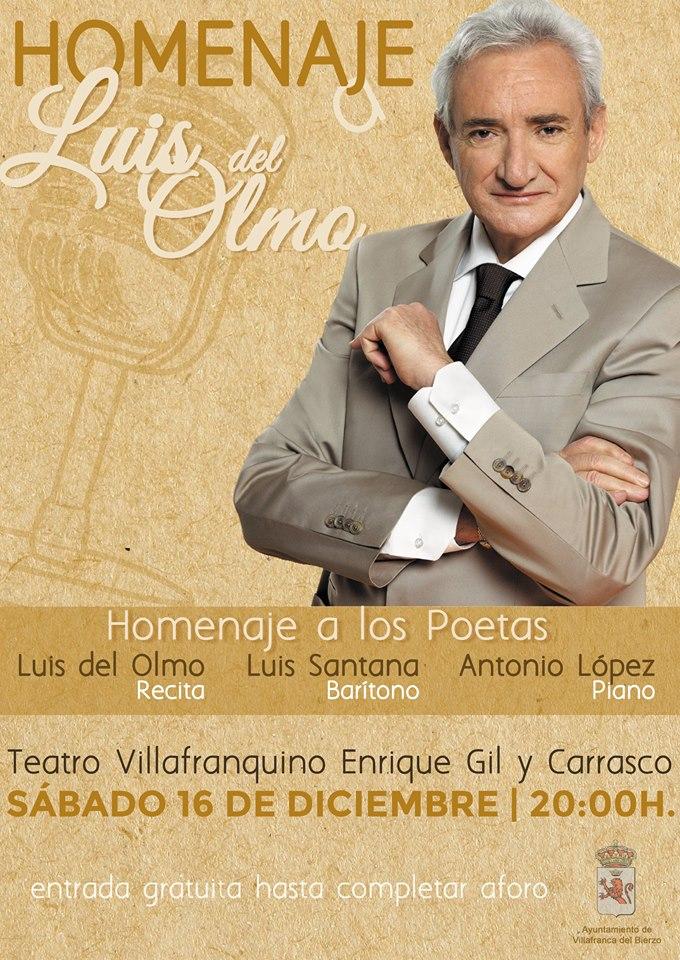 Homenaje a los poetas, un homenaje a Luis del Olmo 1