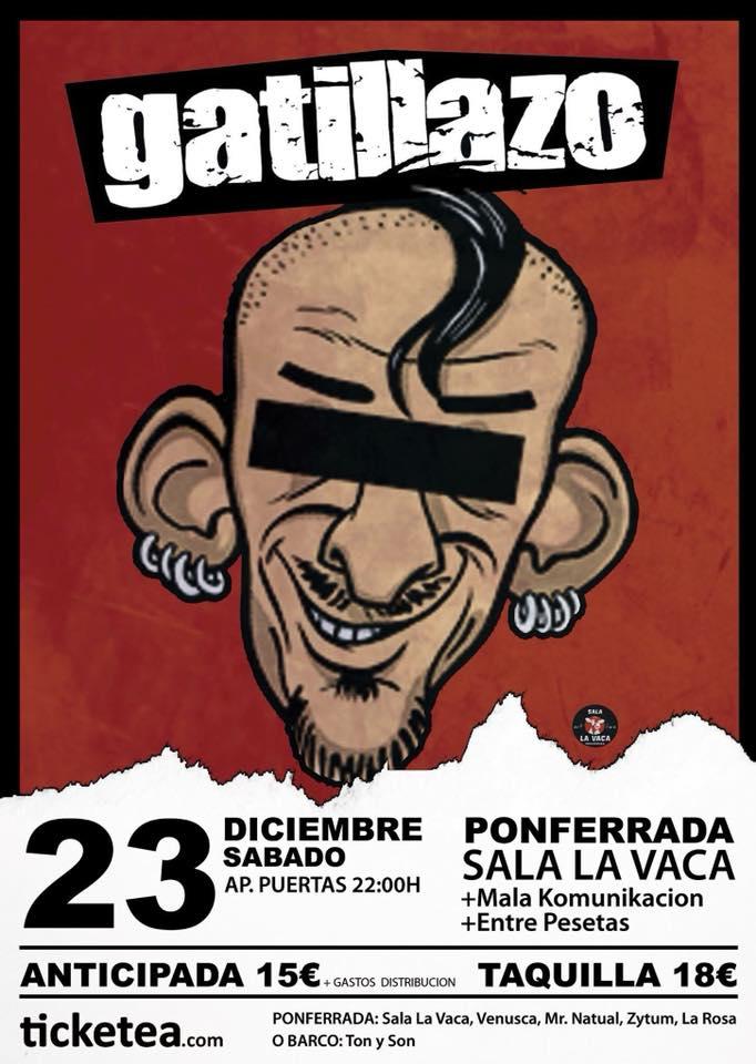 'Gatillazo' en concierto la víspera de Nochebuena en La Vaca 1