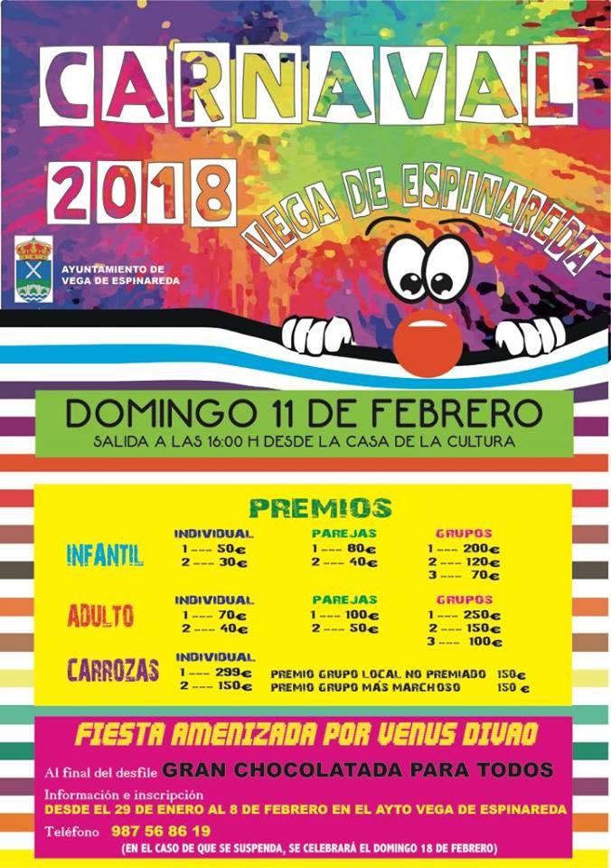 Vega de Espinareda organiza su defile de Carnaval para el domingo 18 de Febrero 1