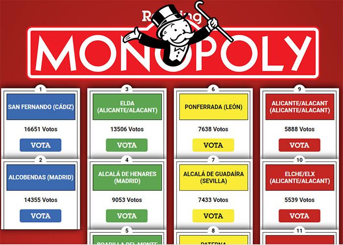 Ponferrada en la casilla de salida para formar parte del nuevo Monopoly España 1