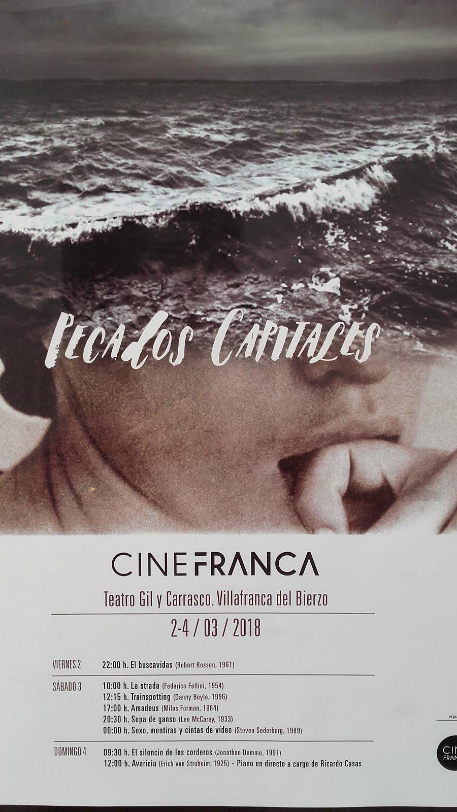 Cinefranca 2018 dedica la edición a los Pecados Capitales 1