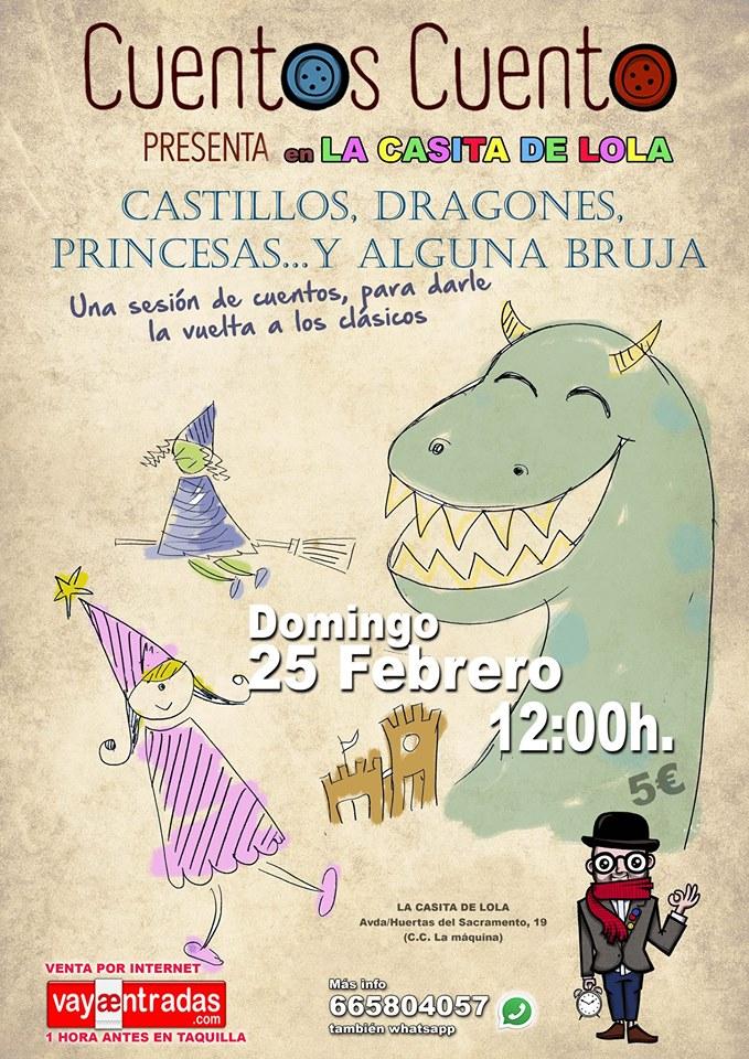 Cuentacuentos infantil: Castillos, dragones, princesas y alguna bruja 1
