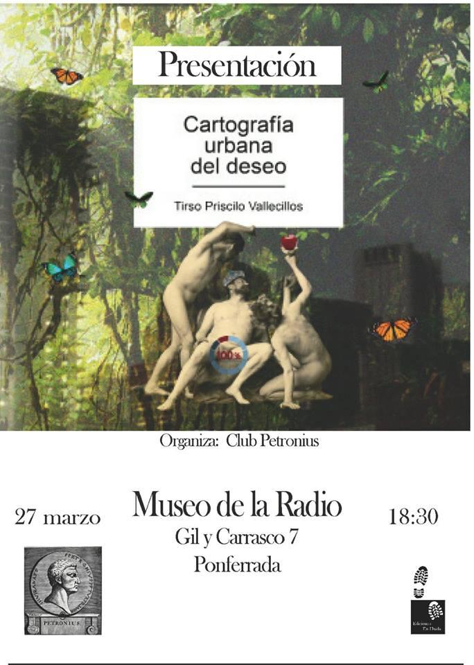 """El Club Petronius organiza la presentación del libro """"Cartografía urbana del deseo"""" 1"""