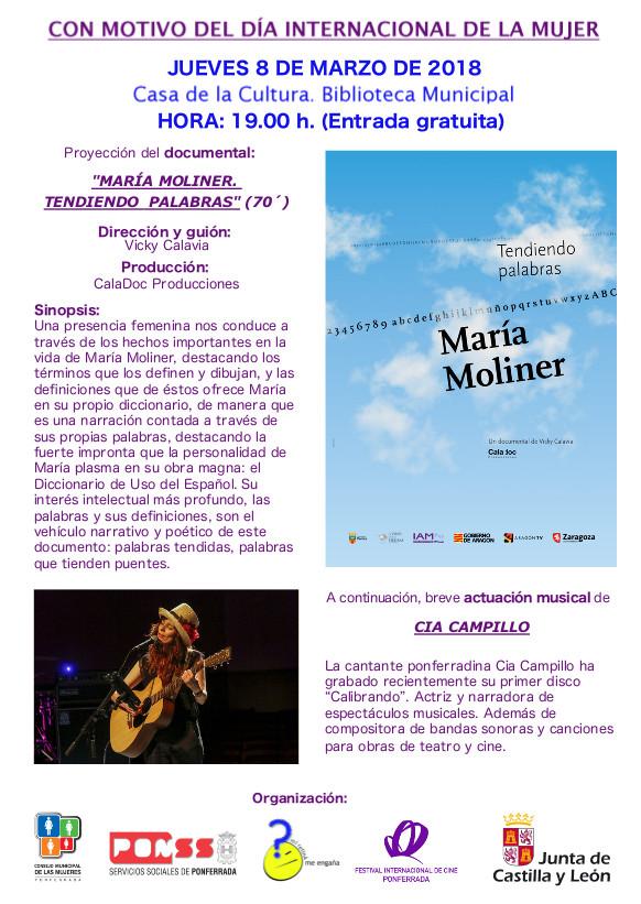 """8 de marzo de 2018, Día Internacional de la Mujer. """"María Moliner, Tendiendo palabras"""" 1"""