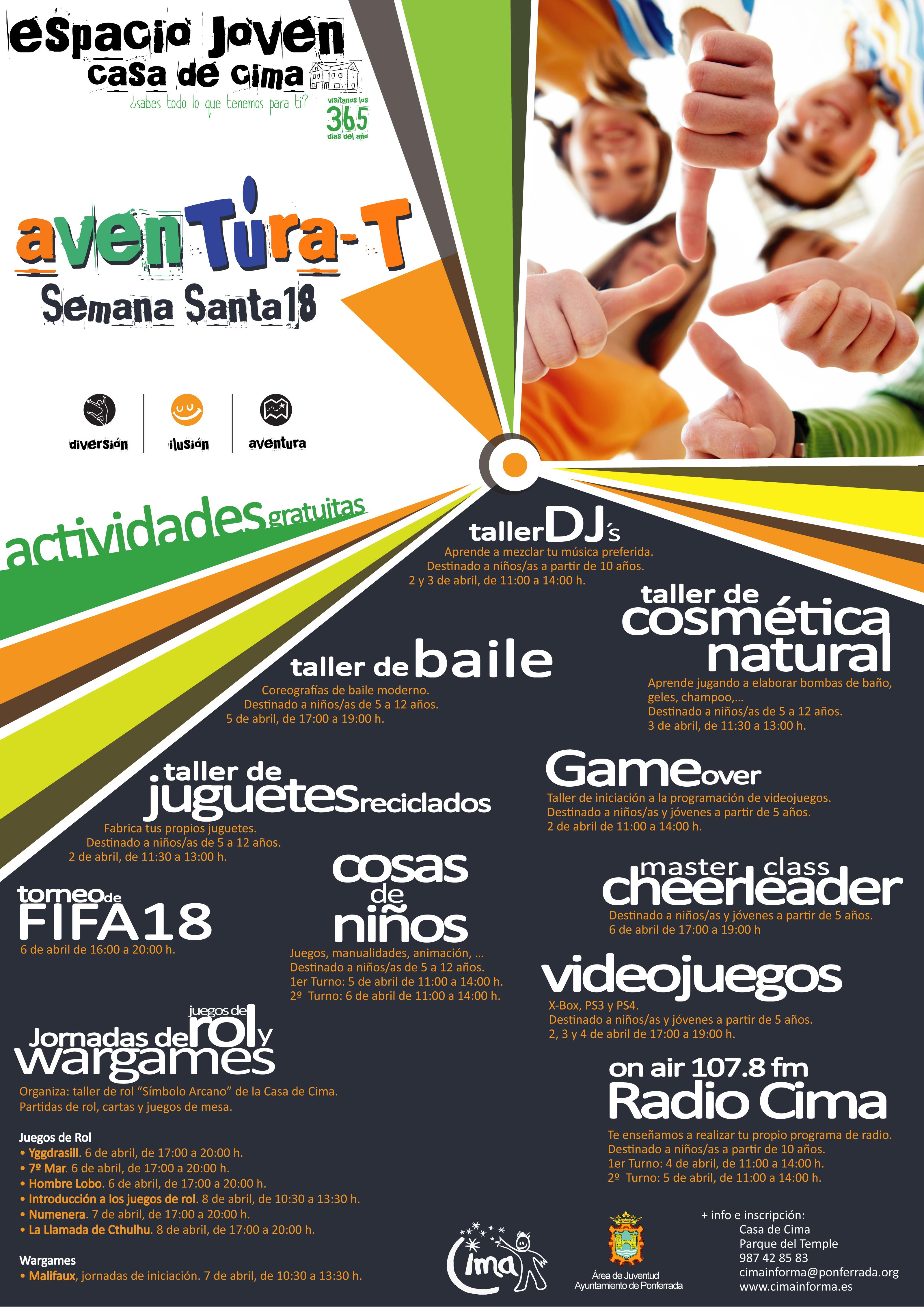 Aventura-t Talleres organizados por CIMA para las vacaciones de Semana Santa 1