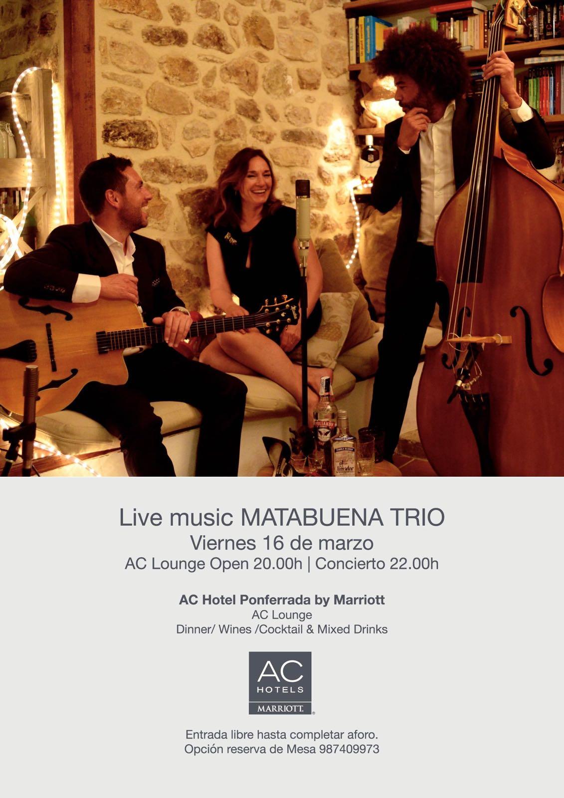 El Hotel AC Marriott de Ponferrada pone en marcha este viernes sus noches con música en directo 1