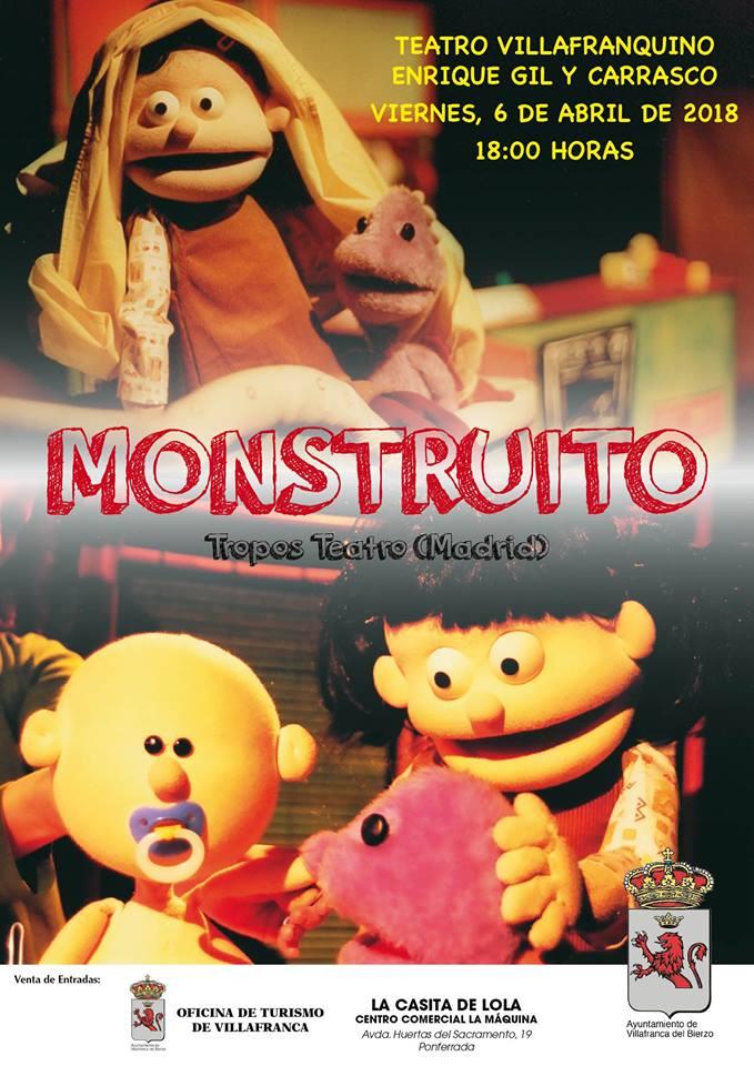Tropos Teatro presenta 'El Monstruito' en el Teatro Villafranquino 1
