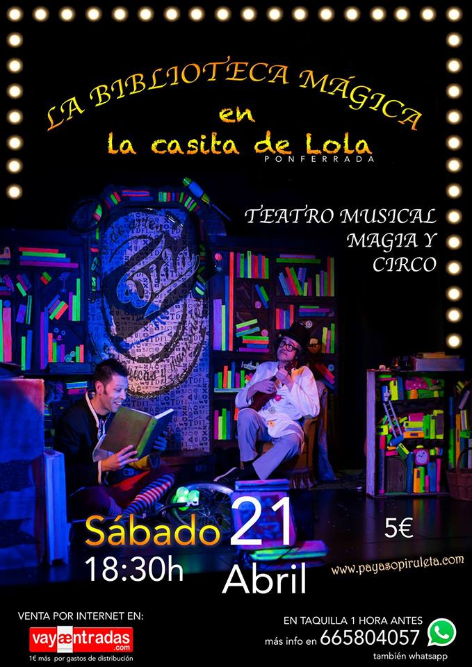 Teatro: 'La biblioteca mágica' en La Casita de Lola 1