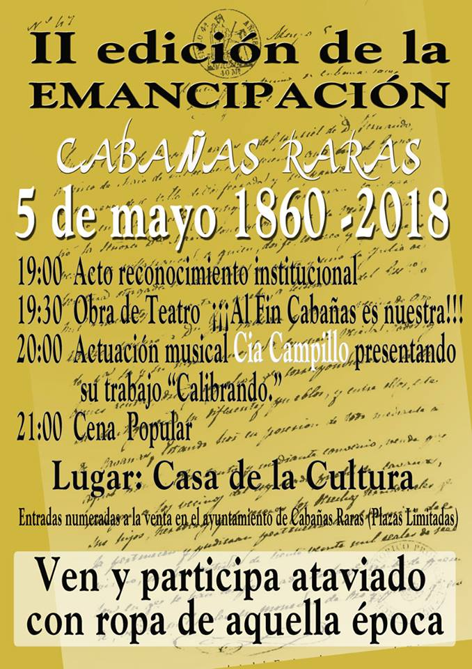 Cabañas Raras celebra su emancipación con diferentes actividades culturales 1