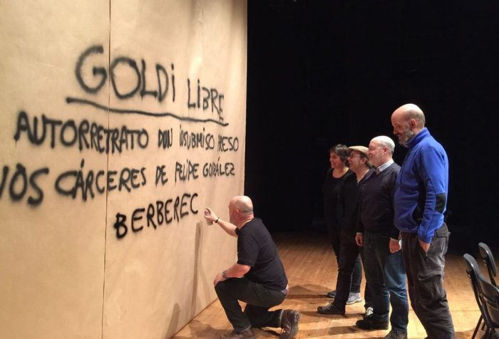 El actor gallego César Goldi ofrece un trabajo de teatro documento sobre el movimiento de insumisión 1