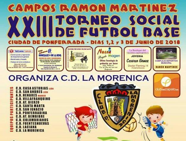 La Morenica organiza el XXIII Torneo social de fútbol base del 1 al 3 de junio 1