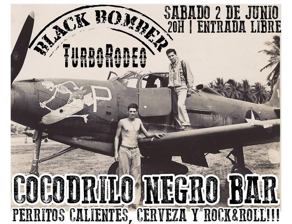 Black Bomber + TurboRodeo en el Cocodrilo Negro el sábado 2 de junio 1