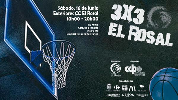 El Centro comercial El Rosal pone de nuevo en marcha el 3×3 de Basket 1