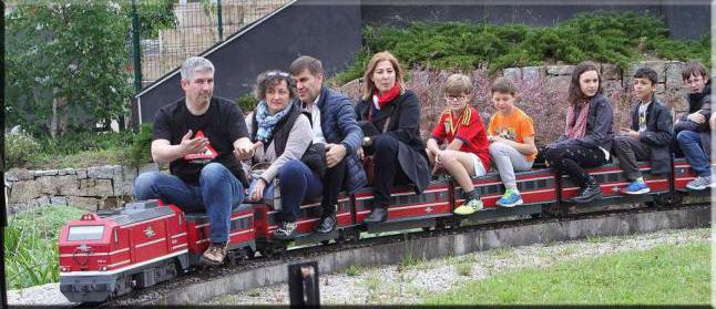 Circuito portátil de tren de jardín 1