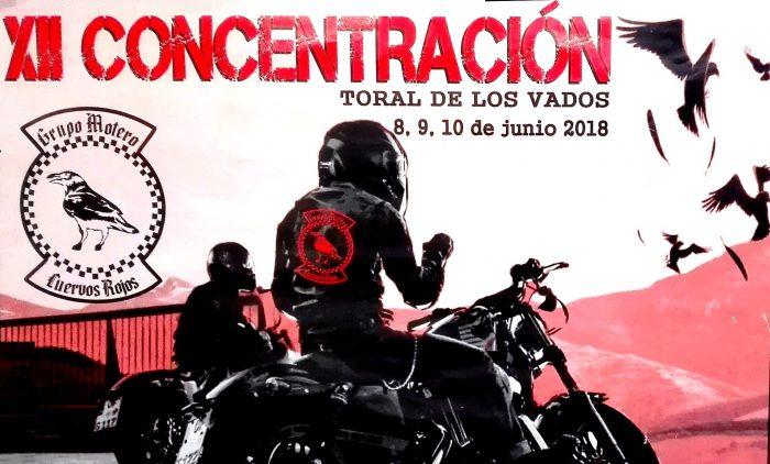 Concentración motera Cuervos Rojos 2018 en Toral de los Vados 1
