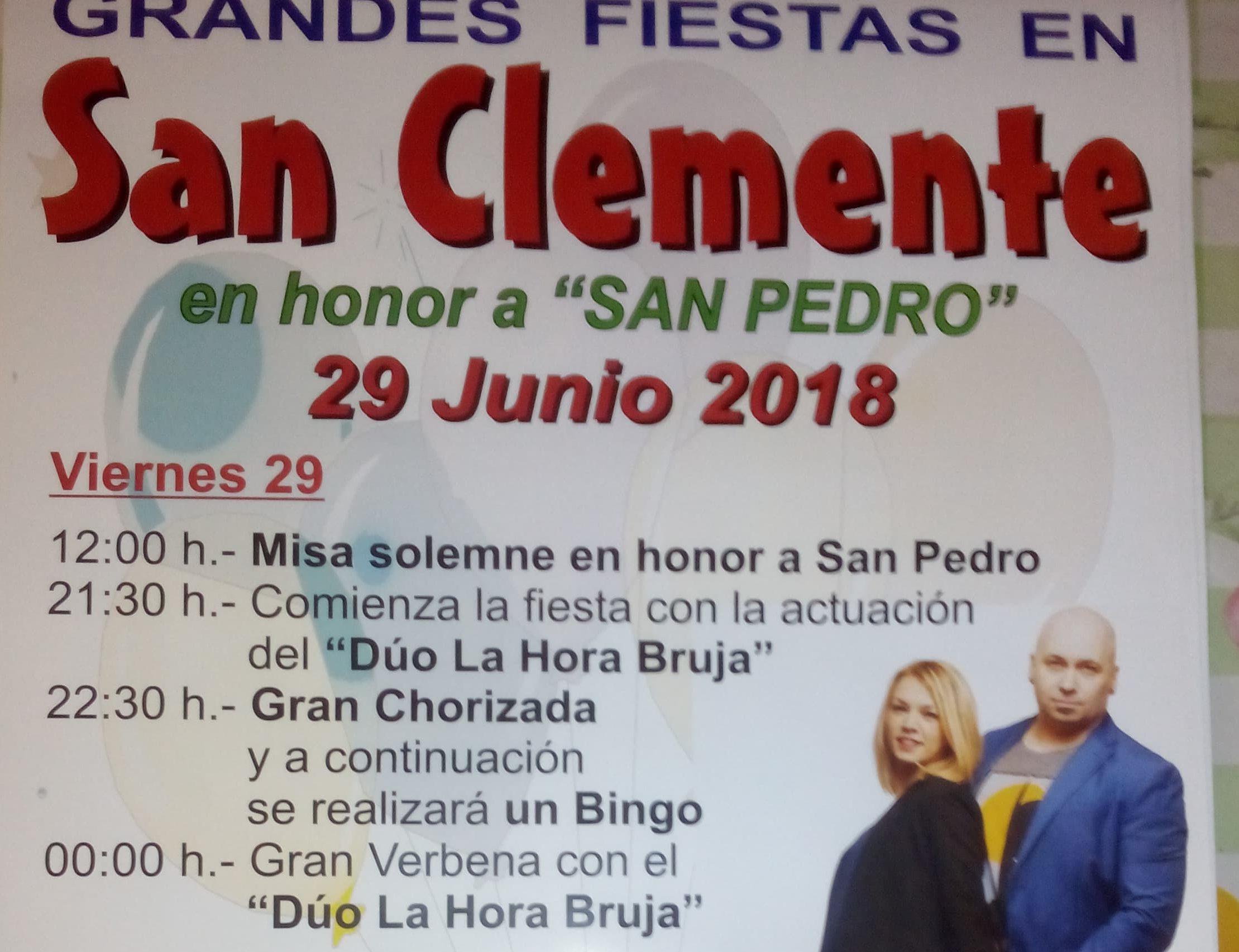 Grandes fiestas en San Clemente en honor a San Pedro 1