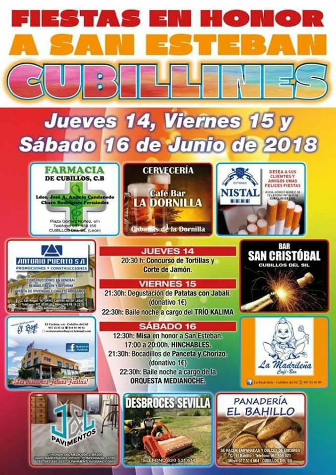 Fiestas en honor a San Esteban en Cubillines 1