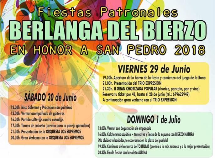 Fiestas en honor a San Pedro 2018 en Berlanga del Bierzo 1