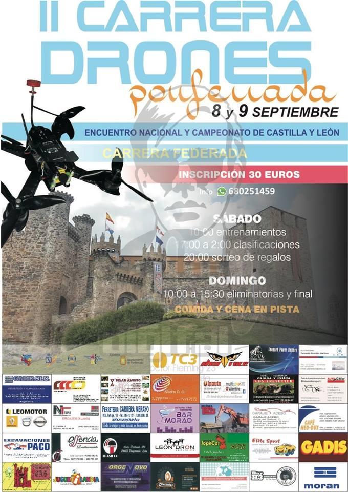 II Carrera de Drones ciudad de Ponferrada los días 8 y 9 de septiembre 1