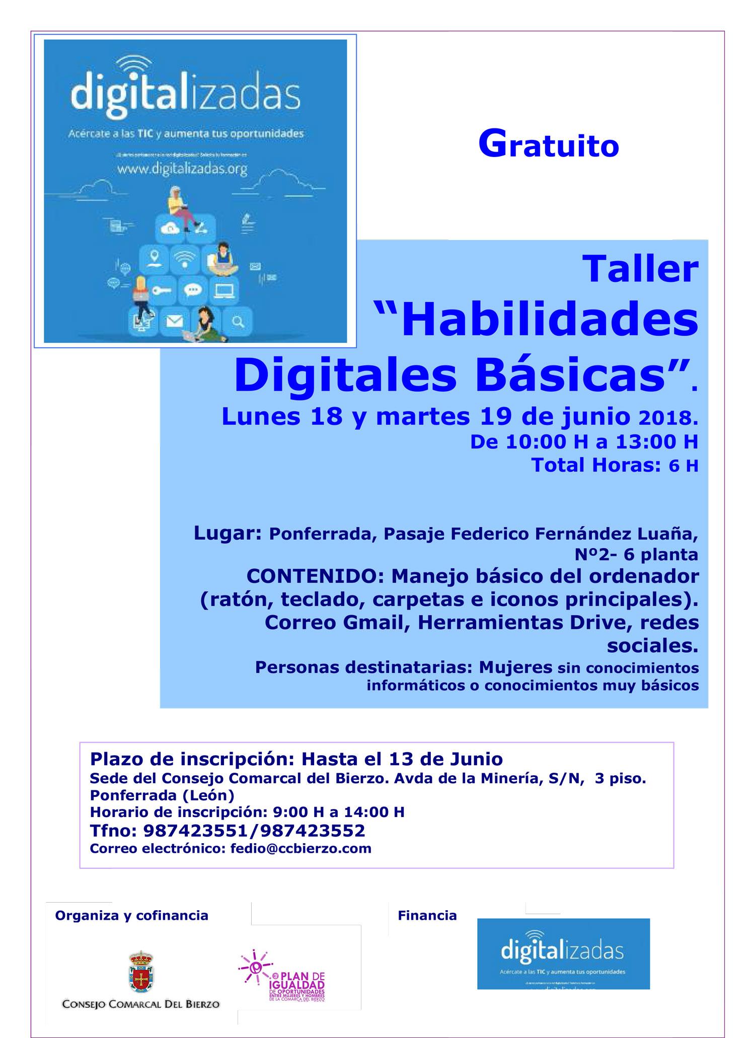 """Taller de """"Habilidades digitales básicas 1"""