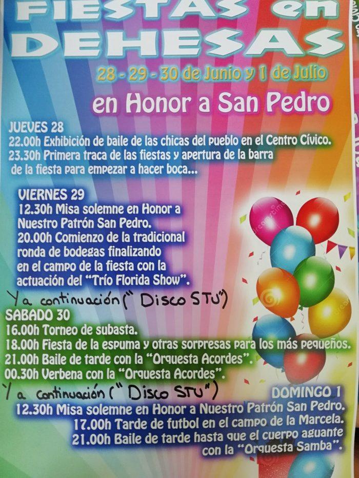 Grandes Fiestas en Dehesas en honor a San Pedro 1