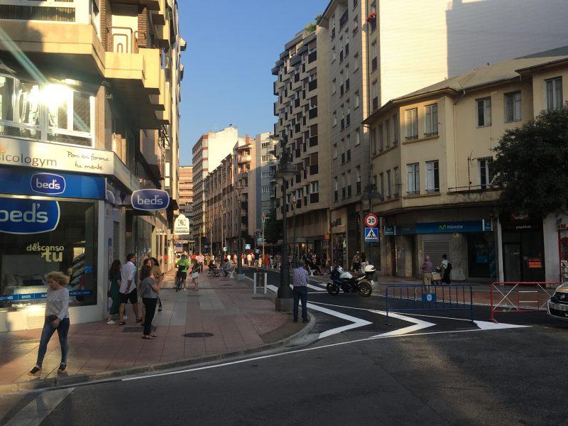 La calle Camino de Santiago sustituye mañana a Gómez Núñez en la peatonalización reversible 1