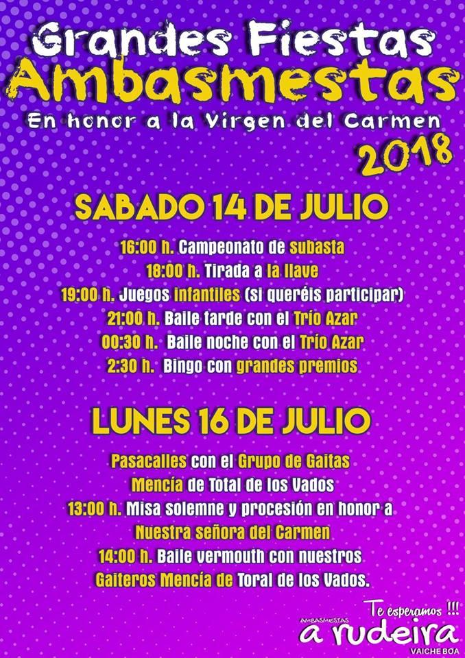 Fiestas en honor a la virgen del Carmen 2018 1