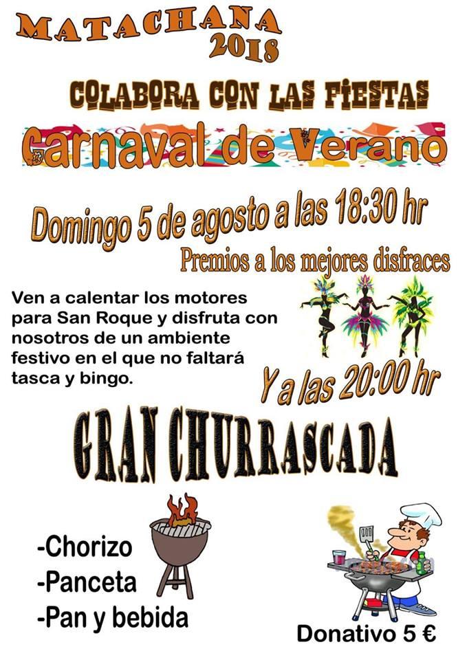 Matachanaorganiza el domingo un carnaval de verano 1