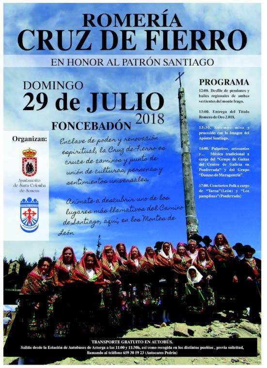 La Romería de la Cruz de Fierro se celebra este domingo 1